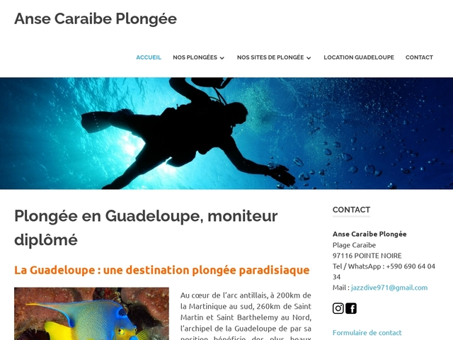 Club de plongée, séjour plongée en  Guadeloupe