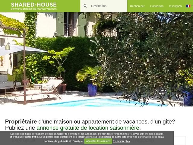 Annonce Gratuite Location Saisonnière Vacances avec Disponibilité et Appréciations - shared-house.com