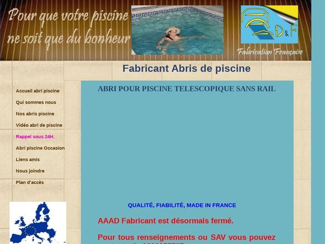 abri piscine AAAD Fabricant abris piscine