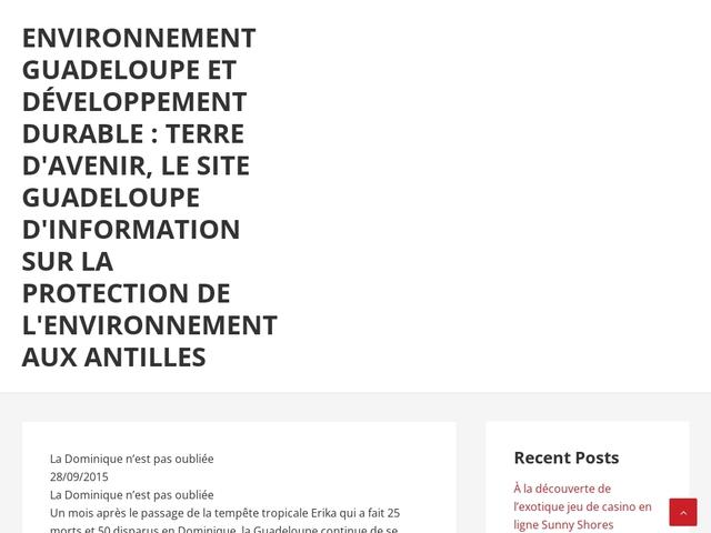 Environnement guadeloupe et développement durable :terre d'avenir,  toute l'information sur la protection de l'environnement en Guadeloupe</title>   <meta http-equiv=