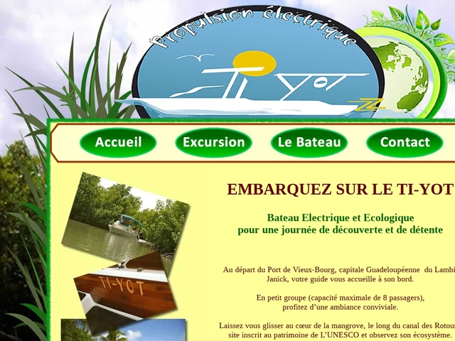 Ti-yot, découverte du Grand-cul-de-sac en bateau électrique