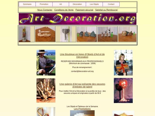 Boutique en ligne d'objets d'Art et de Décoration
