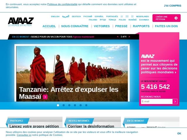 Avaaz - Le Monde en Action