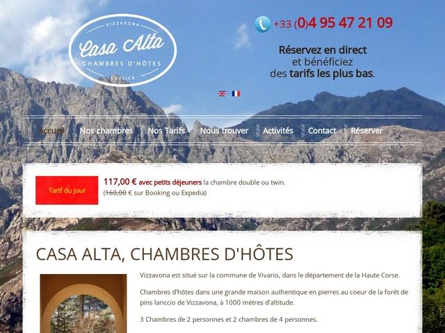 Vizzavona: guestrooms Casa Alta