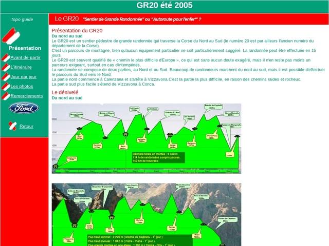 GR20, randonnée en Corse été 2005