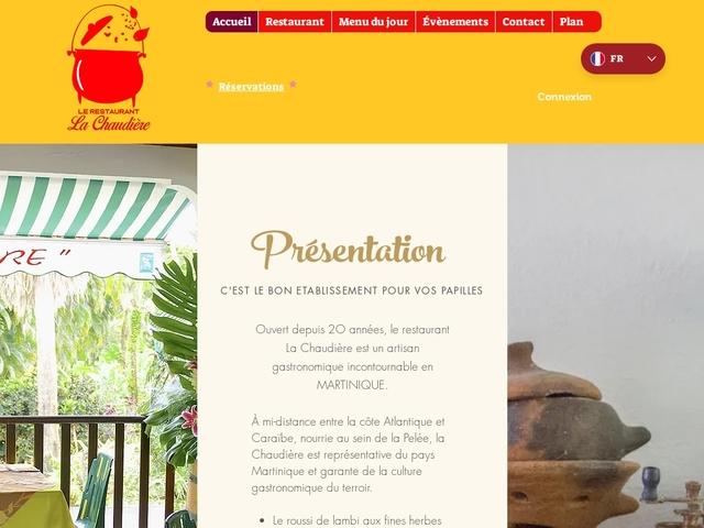 La Chaudière Restaurant /Traiteur Morne Rouge Martinique