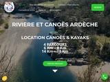 Rivière et Canoës