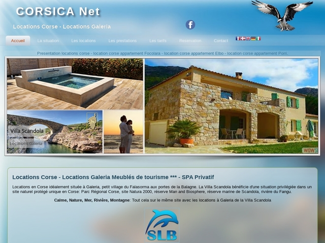 Corsica Net le guide pratique de l'hebergement en Corse hotels corse locations corse