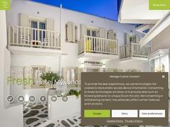 Fresh Hotel - Hôtel 3 * - Vielle Ville de Mykonos - Cyclades