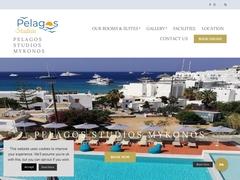 Pelagos Studios - Hôtel 2 * - Platys Gyalos - Mykonos - Cyclades