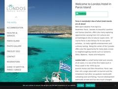 Londos - Hotel 2 * - Pisso Livadi - Paros - Cyclades