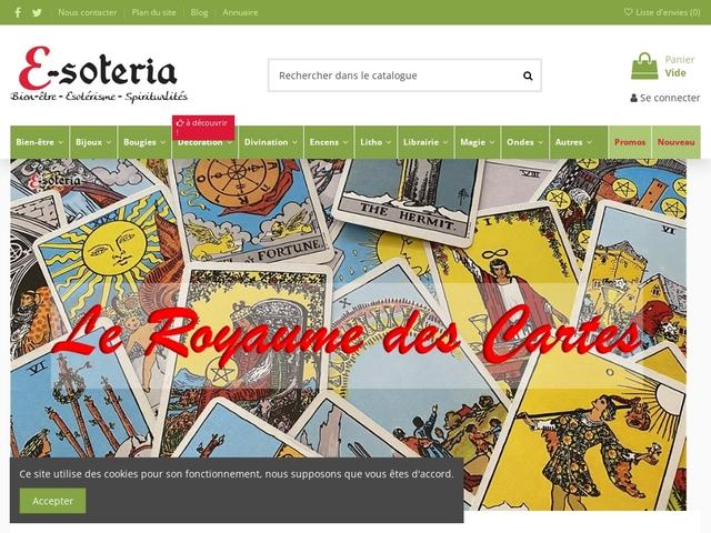 E-SOTERIA, boutique spirituelle, tarots, magie, encens