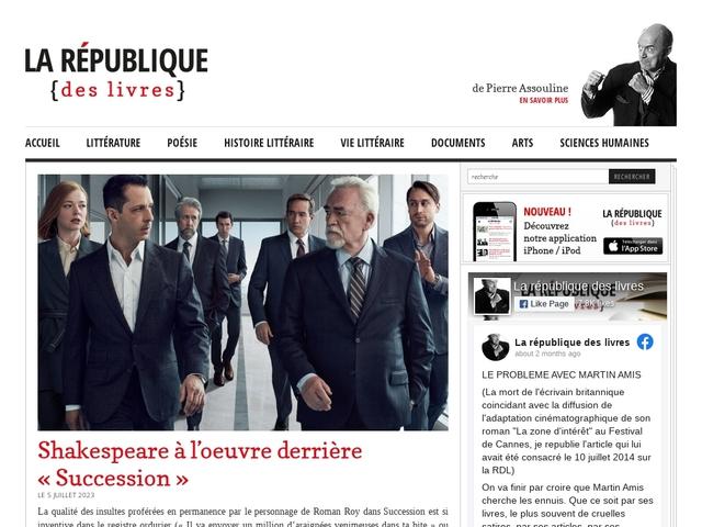 La République Des Livres par Pierre Assouline -