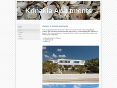 Krinakia Apartments - Hôtel 3 * - Agathopes - Syros - Cyclades