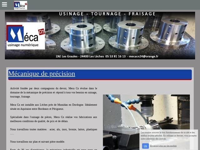 Meca CN Sarl - (24) -Mécanique Précision -Usinag CNC-C.U