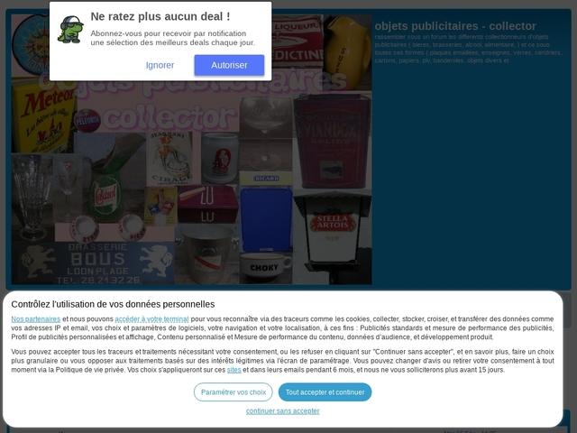Forum gratuit : objets publicitaires - collector