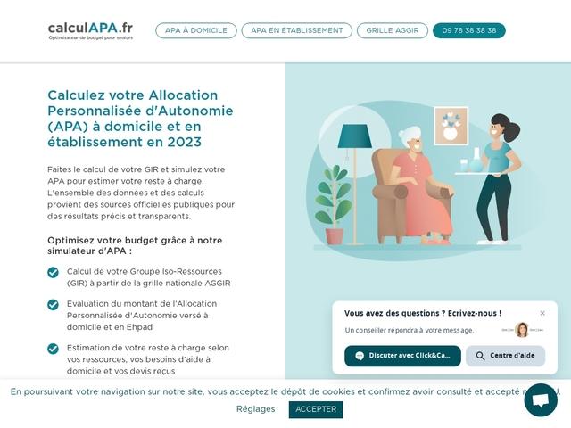 APA calculez votre Allocation Personnalisée d'Autonomie