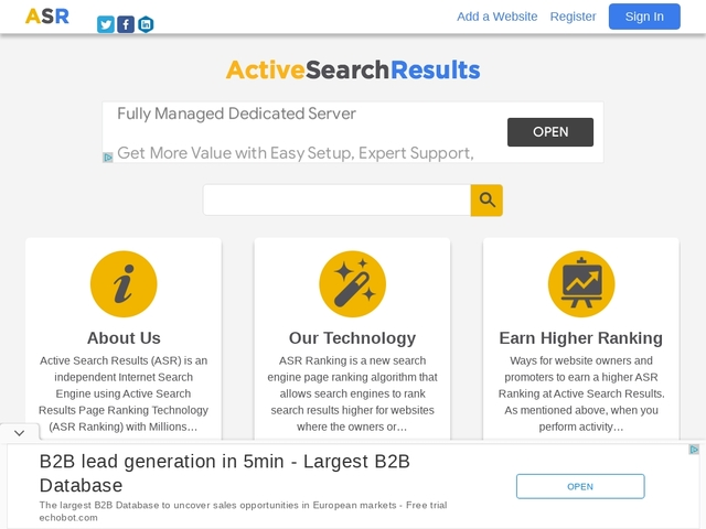 Active Search Results Search Engine