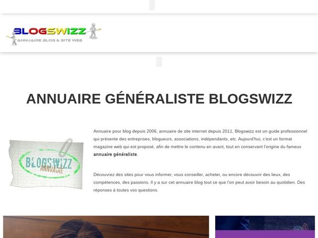 Blogswizz : Page d'accueil