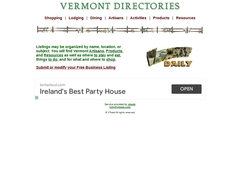 Vermont Lodging Directory