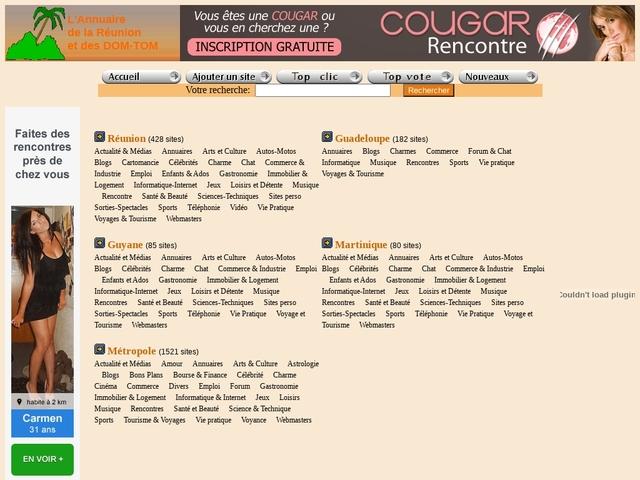 Annuaire de la Réunion et des DOM TOM.