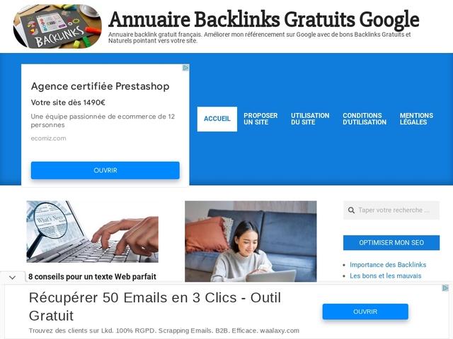 Annuaire Backlinks Gratuits Google