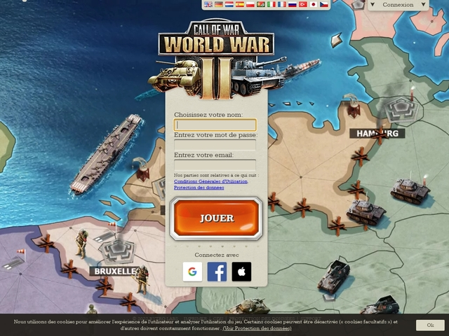 The WW2 strategy game: Call of War