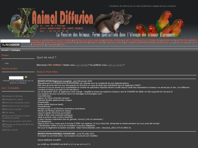 Animal Diffusion