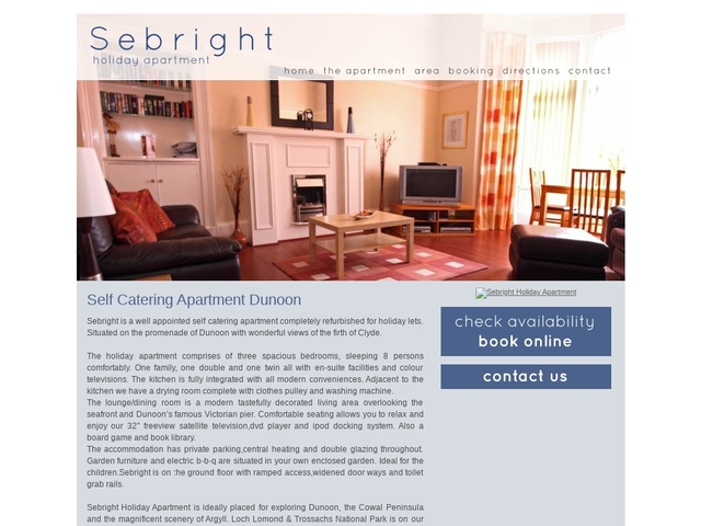 Sebright Luxury Holiday Apartment - Dunoon - Argyll & Bute - Scotland.