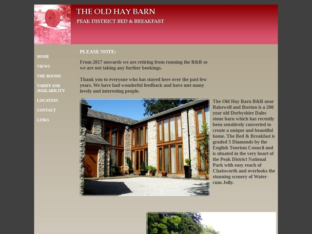 The Old Hay Barn - Derbyshire - Cressbrook - 01298 873503