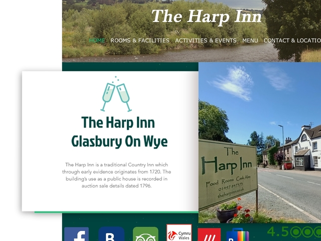 The Harp Inn, Glasbury, Powys