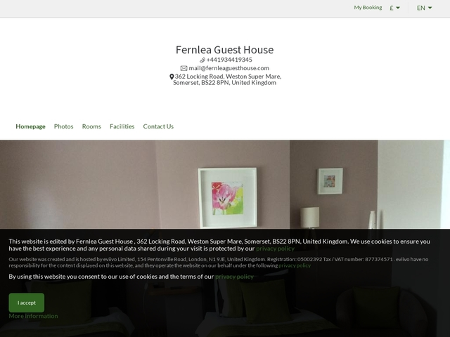 Fernlea Guest House - Weston Super Mare - North Somerset - England.