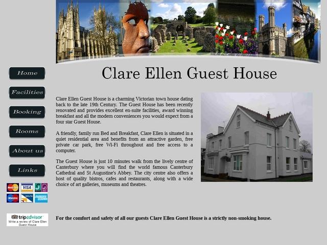 Clare Ellen Guesthouse, Canterbury 01227 760205