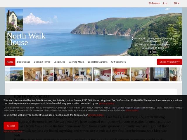 North Walk House B&B - 01598 753372