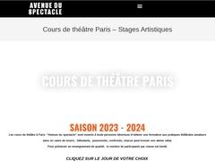 Cours de theatre de l Avenue du Spectacle