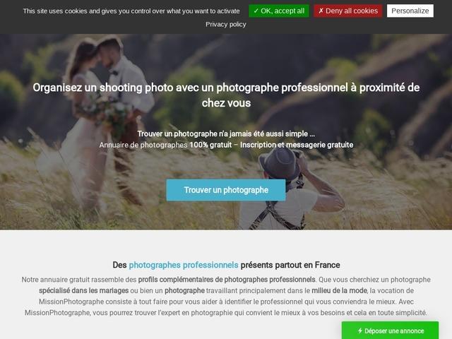 Trouver un photographe pour votre shooting photo