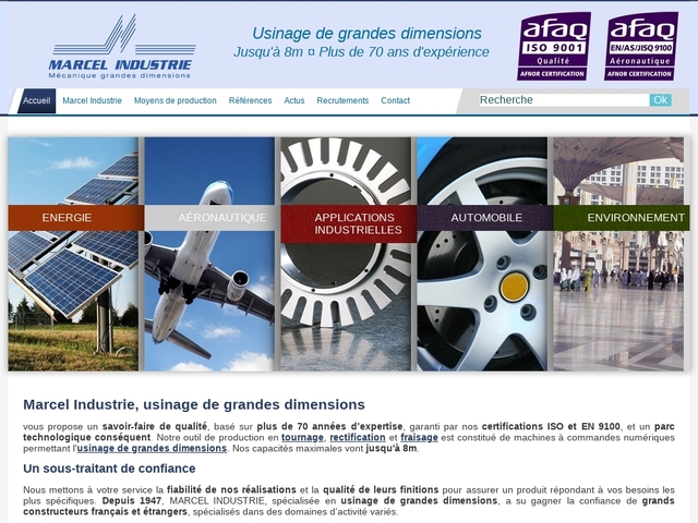 Marcel-Industrie sas - (26)# - Usinage de grandes dimensions