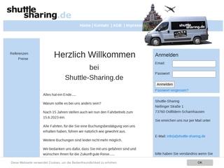 Vorschaubild der Webseite von Shuttle-Sharing AG