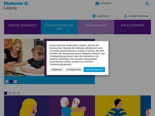 Vorschaubild der Webseite Kontaktstube Leipziger Oase