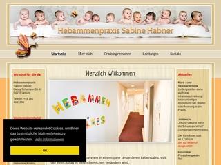 Vorschaubild der Webseite von Hebamme Sabine Habner