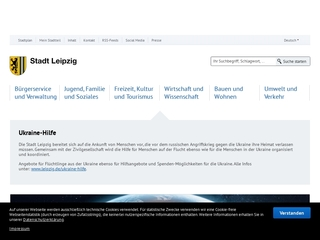 Vorschaubild der Webseite Standesamt Leipzig