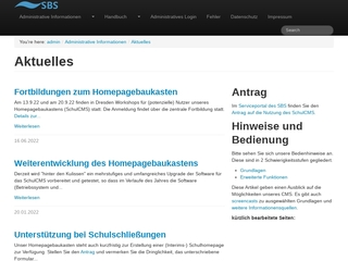 Vorschaubild der Webseite von 20. Oberschule