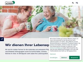 Vorschaubild der Webseite Alloheim Senioren-Residenz Gohlis