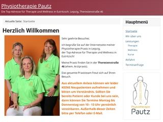 Vorschaubild der Webseite von Physiotherapeutin Nicole Pautz