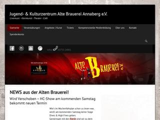 Vorschaubild der Webseite Jugend- und Kulturzentrum ?Alte Brauerei? e.V.