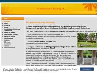 Vorschaubild der Webseite Familienzentrum Annaberg