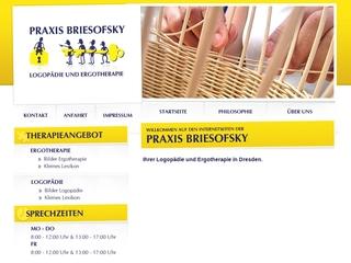 Vorschaubild der Webseite Logopädie- und Ergotherapiepraxis Brigitte Briesofsky