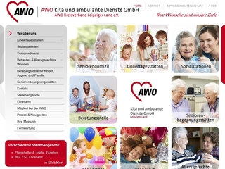 Vorschaubild der Webseite AWO Seniorendomizil Vierseithof