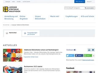 Vorschaubild der Webseite von Stadtbibliothek Leipzig