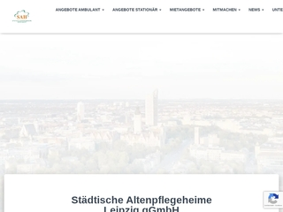 Vorschaubild der Webseite Altenpflegeheim Kleinzschocher